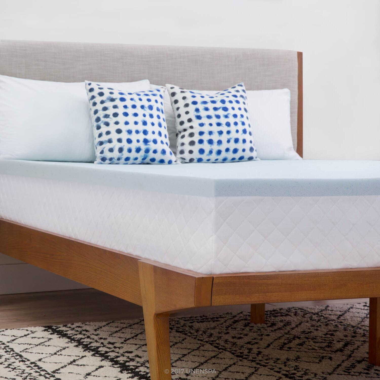 memory foam mattress topper queen size bed