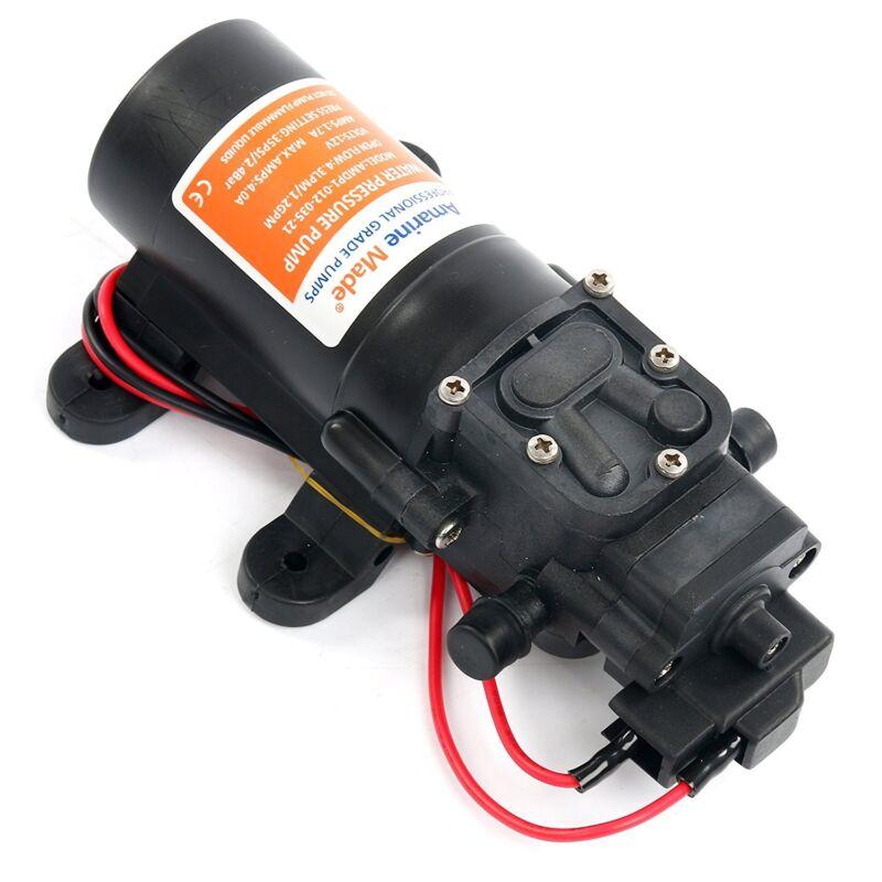 12V DC 1.2 GPM 35 PSI 21-Series Diaphragm Water Pressure Pump for Boat,Caravan
