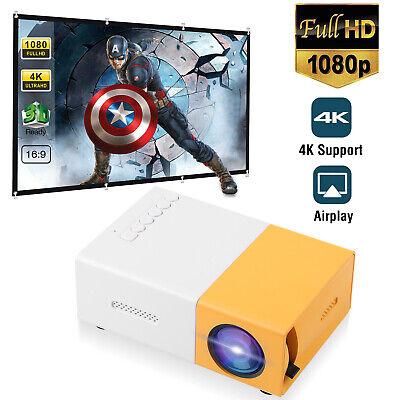 Mini LED Projector Full HD 1080P Portable Video Movie Home Theater Cinema...