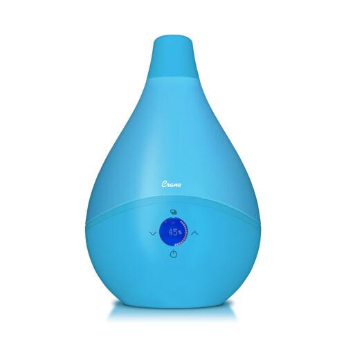 Crane Large DROP Ultrasonic Cool Mist Humidifier 1.5 gal Whisper Quite Aqua
