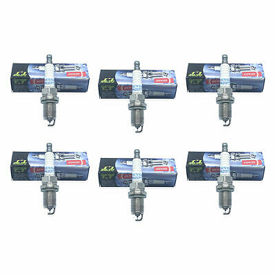 Set (6) DENSO 4504 Spark Plugs Twin Tip Platinum TT PK20TT