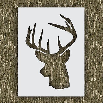 Rustic Lodge Deer - Rustic Deer head stencil buck hunting cabin lodge kit airbrush paint animal