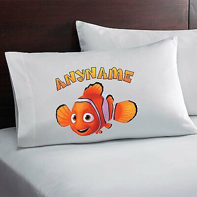 Finding Nemo Personalized Pillow Case Custom Made w. Your Name - Finding Nemo Character Names
