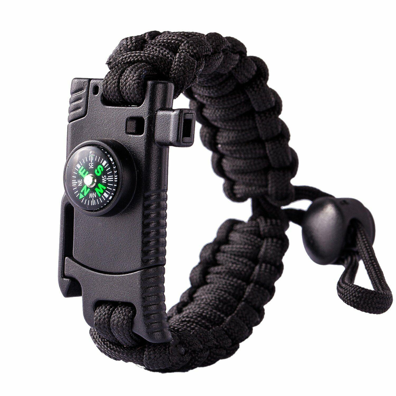 paracord knife bracelet adjustable survival bracelet fire