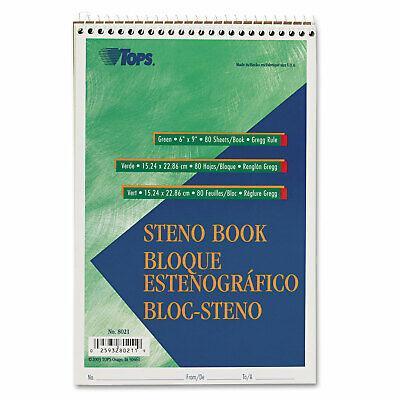 Tops Gregg Steno Books 6 X 9 Green Tint 80 Sheet Pad 8021