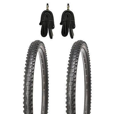 2 x Kujo Mountainbike Reifen MTB Fahrradreifen 26 Zoll 26x1.95 + 2x Schlauch DV