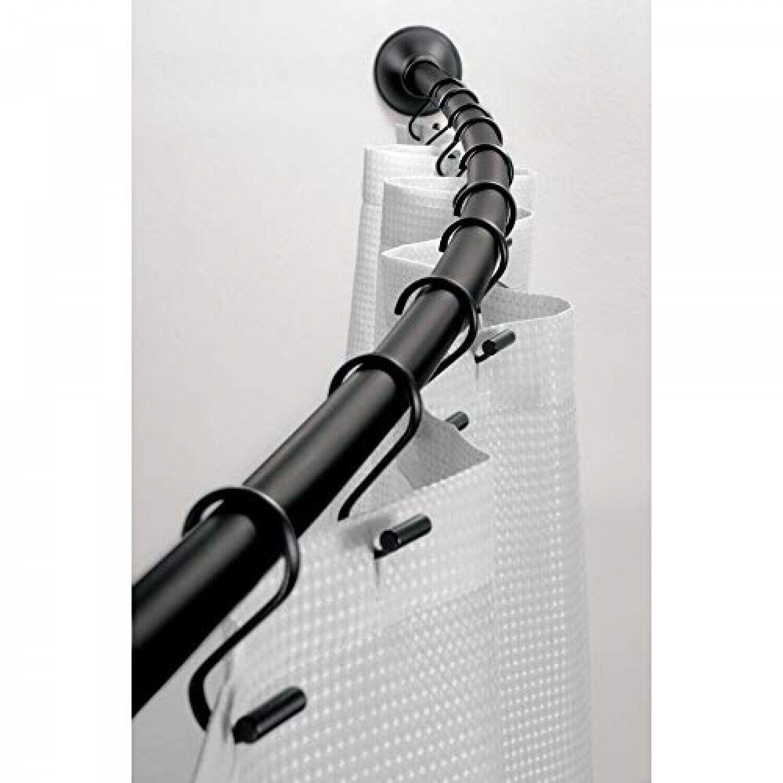 Corner Shower Rail Telescopic Steel Pole Bath Extendable