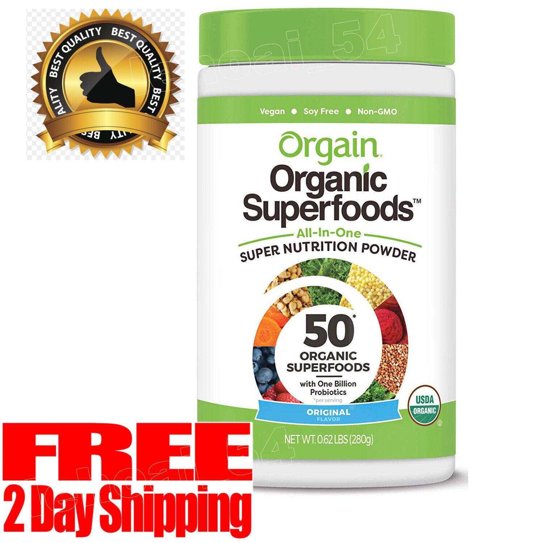Orgain Organic Green Superfoods Powder Vegan, Dairy Free, No