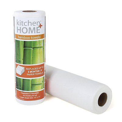 Bamboo Paper Towels - Heavy Duty Eco Friendly Machine Washable Reusable Sheets](Bamboo Paper)