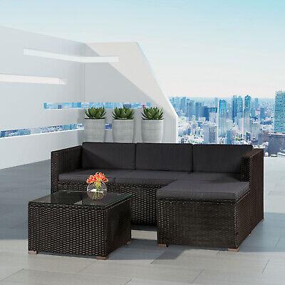 Gartenmöbel (Gartenmöbel Polyrattan Lounge Rattan Gartenset Sitzgruppe Rattanmöbel ArtLife®)