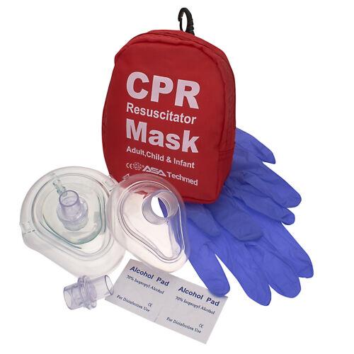 First Aid Cpr Adult + Child Cpr Mask, Infant Cpr Mask, Pocket Resuscitator Kit