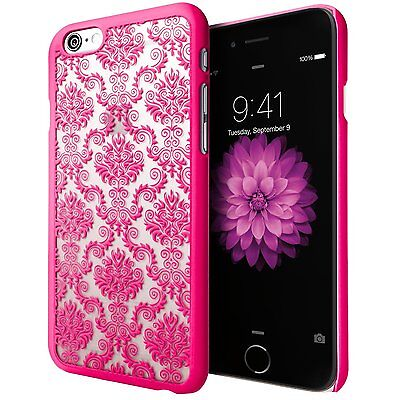 Damask Hybrid Rubber Hard Protector Sanp Case Cover for Apple iPhone 6 6S Plus