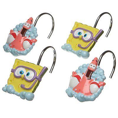 Nickelodeon Spongebob Squarepants & Patrick  Shower Curtain Rings / Hooks, 12 ct (Spongebob Squarepants Spongebob Curtain)
