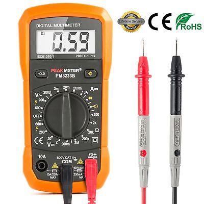 Multimeter Digital Meter Amp Ohm Voltmeter Tester Fluke Batter Auto Lcd Acdc