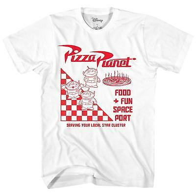 Disney Pixar Toy Story Pizza Planet Take Out Logo Adult Mens Graphic T-Shirt Tee