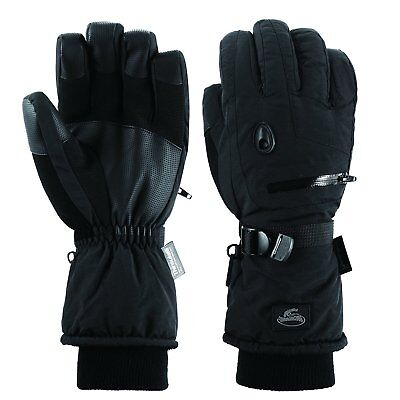 Men  Black Waterproof Thinsulate Ski Snowboard Gloves Winter Warm Gloves S M L X