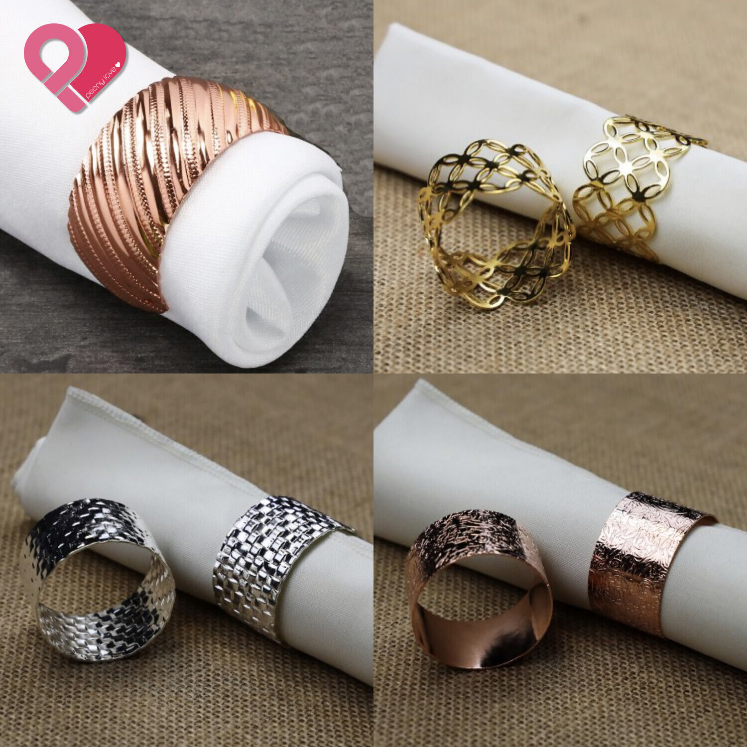 50 X White Butterfly Napkin Ring Serviette Holder Banquet Table Party Wedding For Sale Online Ebay