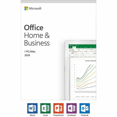 Microsoft Office Home and Business 2019 Windows or MAC T5D-03080 CARD