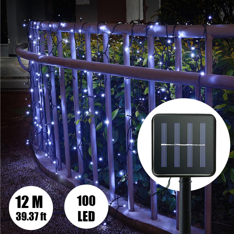 outdoor solar powered 12m 100led string light
