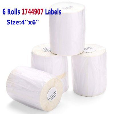 6 Rolls 220roll 4x6 Direct Thermal Shipping Labels Compatible 1744907 Dymo 4xl