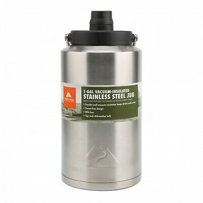 1 Gallon Water Drinking Jug Double Wall Vacuum Container Sta