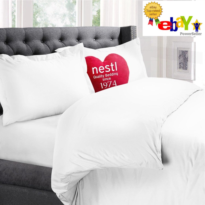 Nestl Bedding 3-Piece Microfiber QUEEN Duvet & Pillow Sham