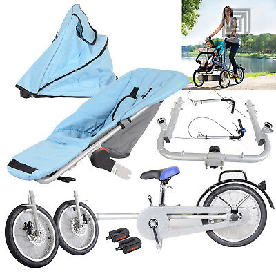 Folding Mother Baby Stroller Bike 3 Wheels Baby Carrier Pushchair Bicycle