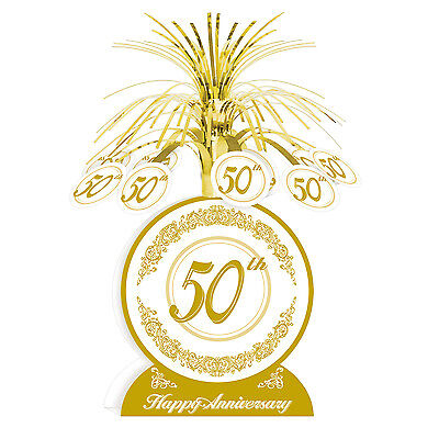 50th Anniversary Centerpieces (50th Anniversary Centerpiece Party Table)