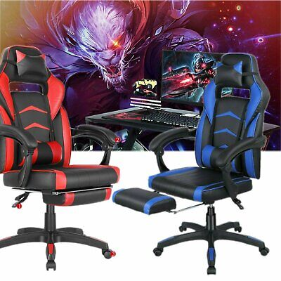Gaming Chair Office Computer Desk Seat Ergonomic Height Adjustable Recliner
