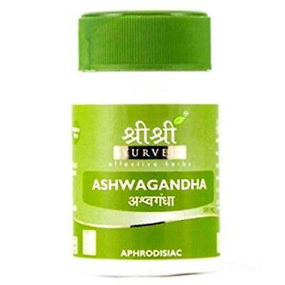 Sri Sri Ayurveda Effective Herbs Ashwagandha Stress Reliever 500 mg 60 Tablets