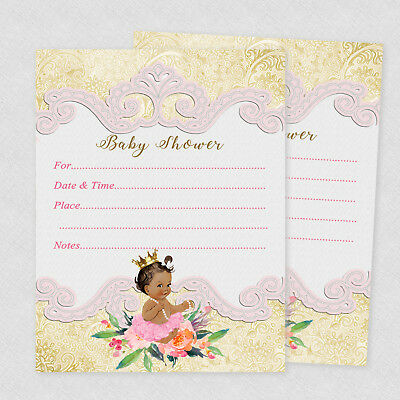 Girl Baby Shower Invitations Princess Party Supplies Decoration Invite Set of 20](Baby Princess Party Supplies)