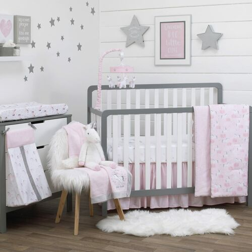 Unicorn 9 Piece (W/Mobile) Crib Bedding Set by NoJo