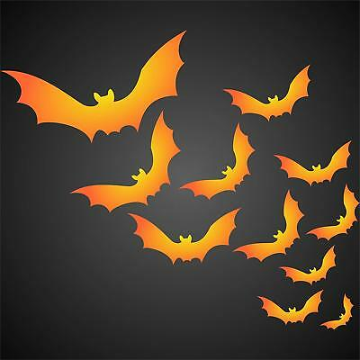 Halloween Bats Stencil Reusable Painting Holiday Project Walls Floors Fabric