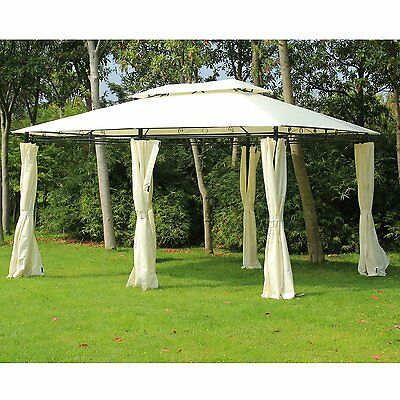 Outsunny Garden Gazebo Canopy Party Tent Pavillion Patio Shelter Pavilion Metal