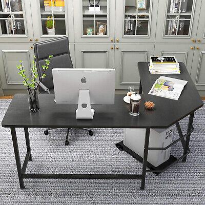 L-Shape Corner Computer Desk MDF Laptop PC Table Workstation