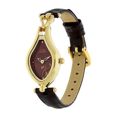 Titan Raga Gold Metal Jewellery Bangle Design Bracelet Clasp Wrist Quartz -