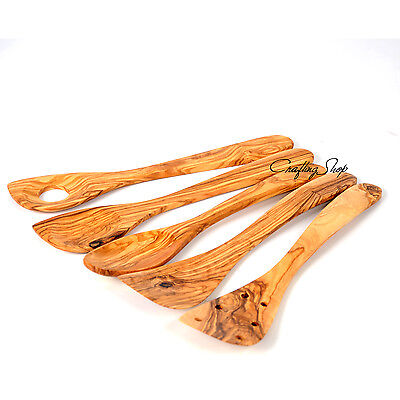 Sale! Handmade Olive Wood 5 Kitchen Utensils, Cooking Tools
