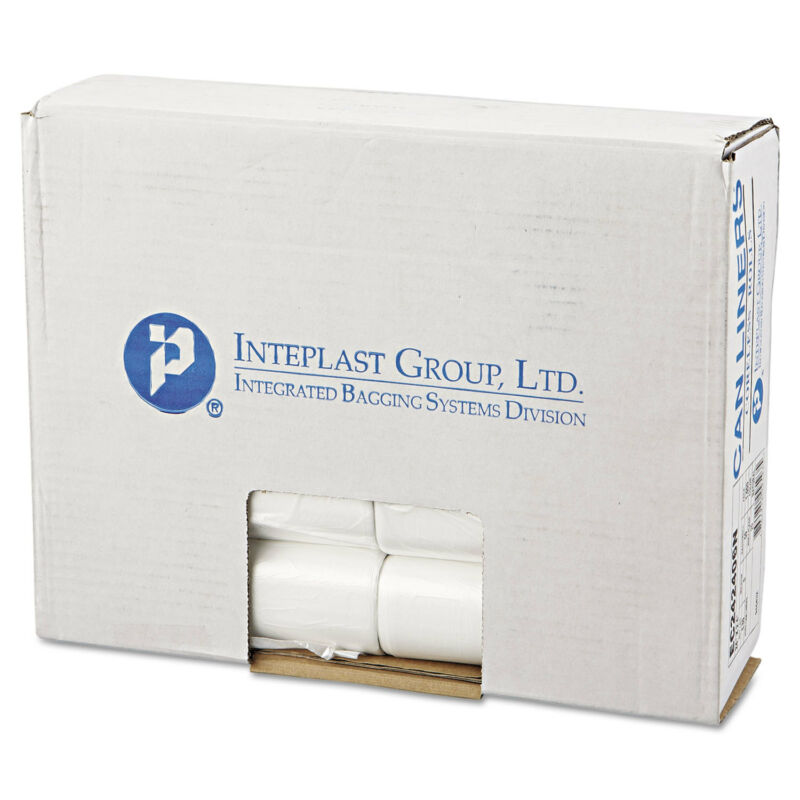 Inteplast Group Commercial Can Liners Perforated Roll 10gal 24 x 24 Natural 1000