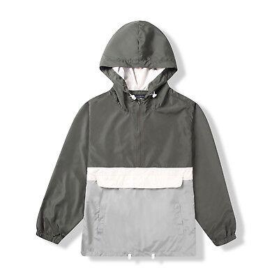 Men's Pullover Jacket  Half Zip Hooded Front Pocket Lightwei