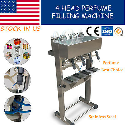 4 Head Perfume Filling Machine Pneumatic Vacuum Liquid Glass Bottle Filler In Us