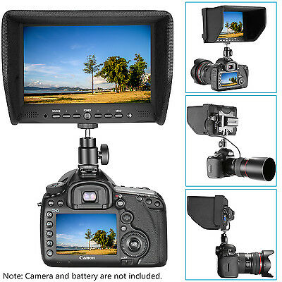 "Neewer NW708-M 7"" On-Camera Field Monitor for Canon Nikon Sony Olympus Pentax"