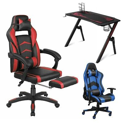 Ergonomic Gaming Desk Computer Office Gamer Table With Cup Holder Headphone Hook