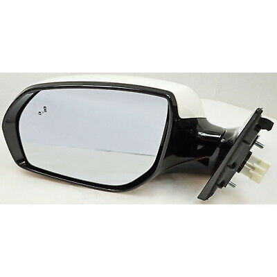 Factory Side View Door Mirror Power Blind Camera LH Drivers White For Santa Fe
