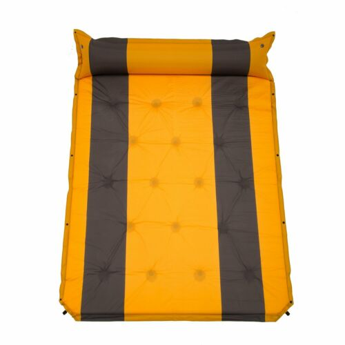 Thicken Double Inflating Pad Sleeping Mattress Air Bed Camping Hiking Mat Pillow