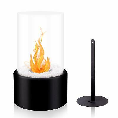 BRIAN & DANY Tabletop Bio Ethanol Fireplace with Cylindrical Glass