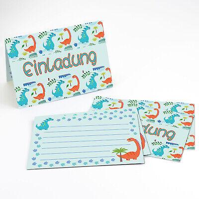 6 Dino Einladungskarten Kindergeburtstag Dinosaurier Party Einladungen DIN A6