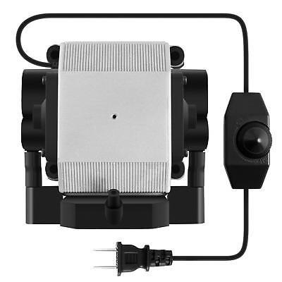 VIVOSUN 332 GPH 4 Outlets Adjustable Air Pump for Fish Aquariums Hydroponics 14W