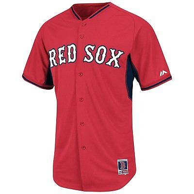 MENS SZ 40 BOSTON Red Sox BP BATTING PRACTICE JERSEY MAJESTIC S-M NEW NWT (Red Sox Batting Practice Jersey)