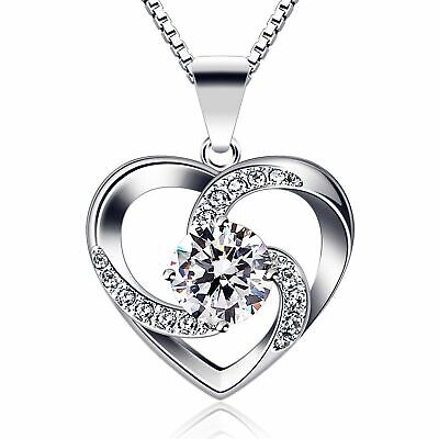 [BIRTHDAY GIFTS FOR WIFE GIRLFRIEND MOM HER] CUBIC HEART PENDANT NECKLACE ()