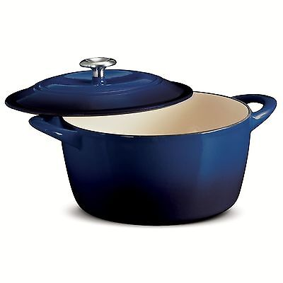 Tramontina Enameled Cast Iron 6.5 Qt Covered Round Dutch Oven - Cobalt